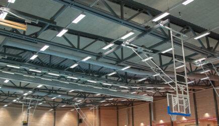 Träullit Akustik i Kronanhallens tak och väggar