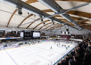 Träullit i taket på T3 Arena